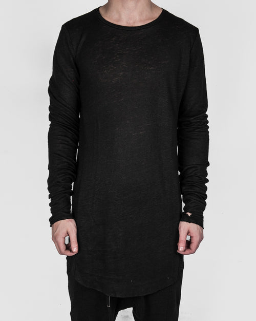 Army of me - Long sleeve linen t-shirt - Stilett.com
