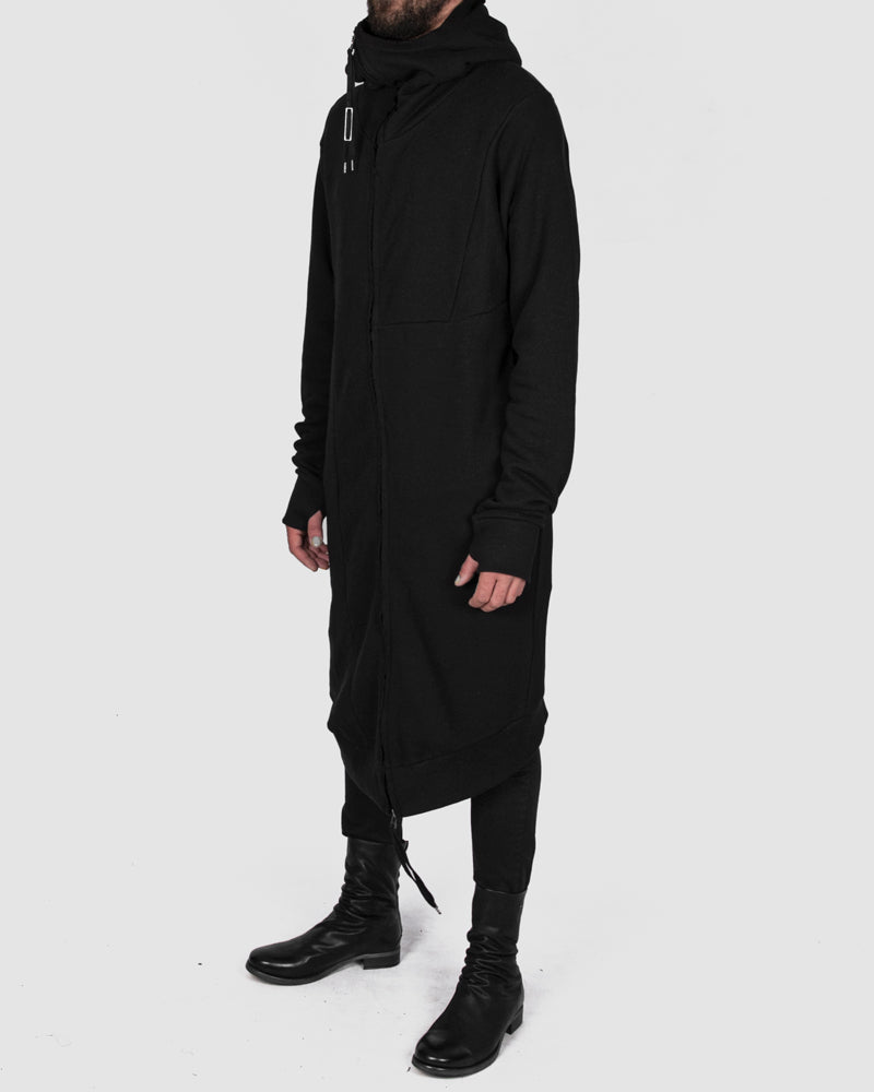 Army of me - Long zip up hooded sweatshirt black - Stilett.com