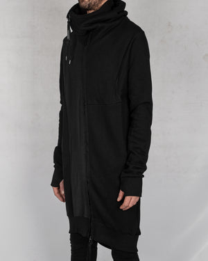 Army of me - Long zip up hooded sweatshirt black - https://stilett.com/