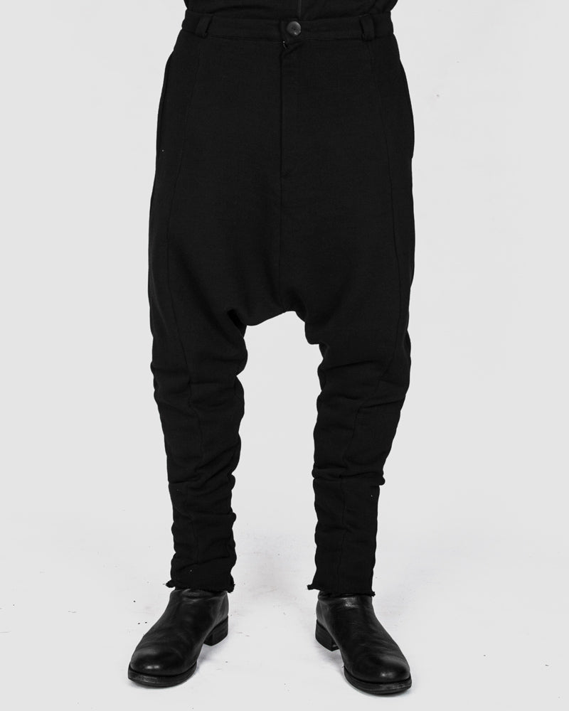 Army of me - Low crotch jersey trousers black - Stilett.com
