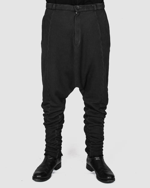 Army of me - Low crotch jersey trousers graphite - Stilett.com
