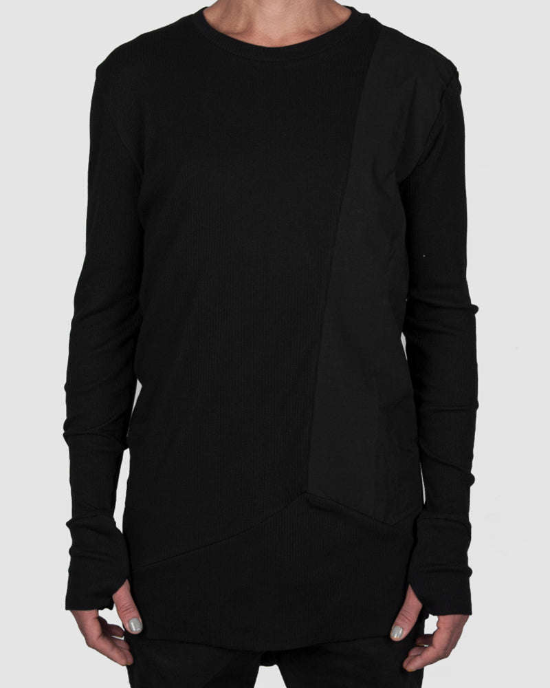 Army of me - Paneled ribbed sweatshirt - Stilett.com