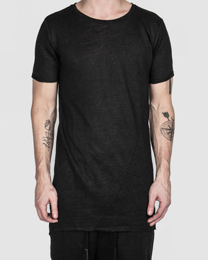 Army of me - Raw cut linen t-shirt - https://stilett.com/