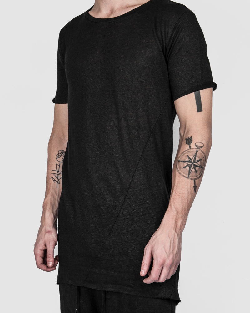 Army of me - Raw cut linen t-shirt - Stilett