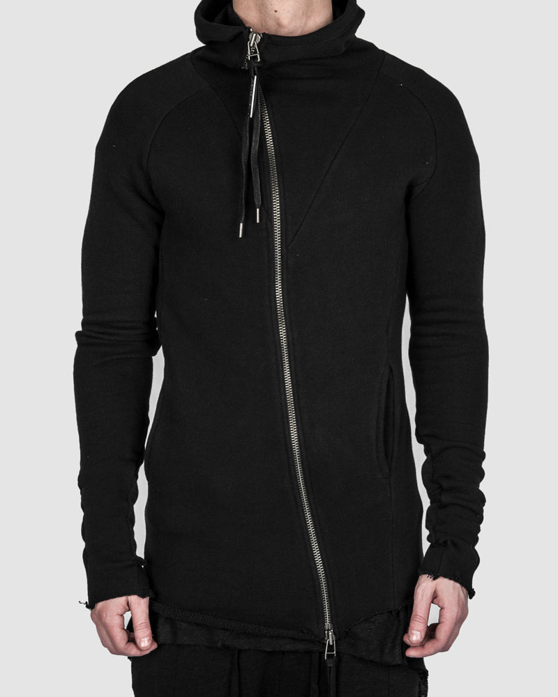 Army of me - Raw cut zip sweatshirt black - https://stilett.com/