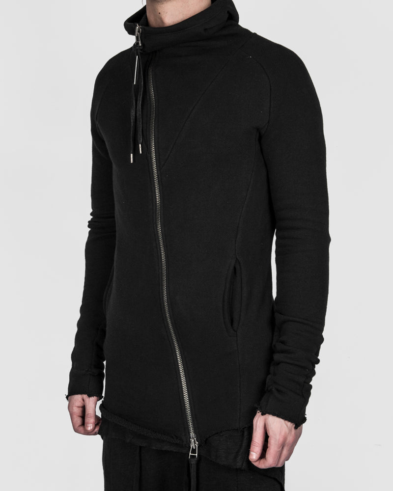 Army of me - Raw cut zip sweatshirt black - Stilett