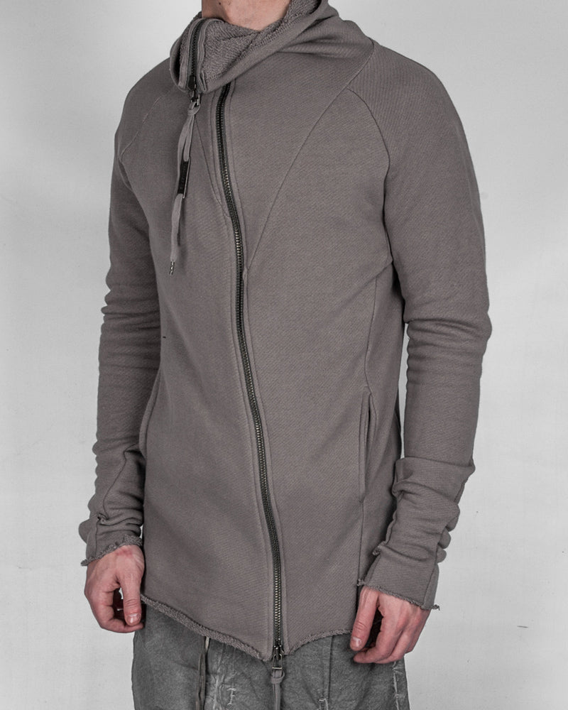 Army of me - Raw cut zip sweatshirt clay - Stilett