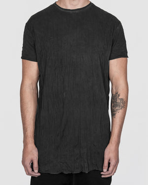 Army of me - Scar stitch detail cotton tshirt crinkled graphite - https://stilett.com/