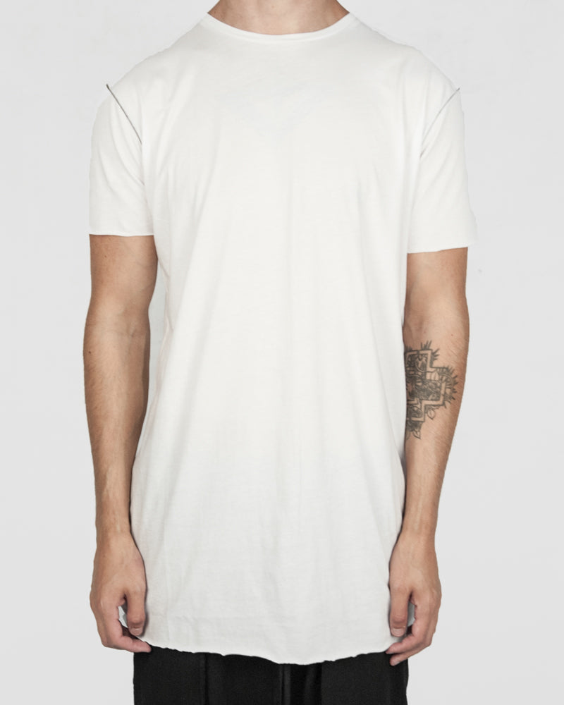 Army of me - Scar stitch detail cotton tshirt white - Stilett.com