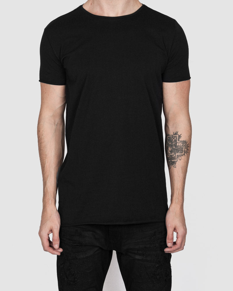 Army of me - Scar stitched cotton tshirt black - Stilett.com