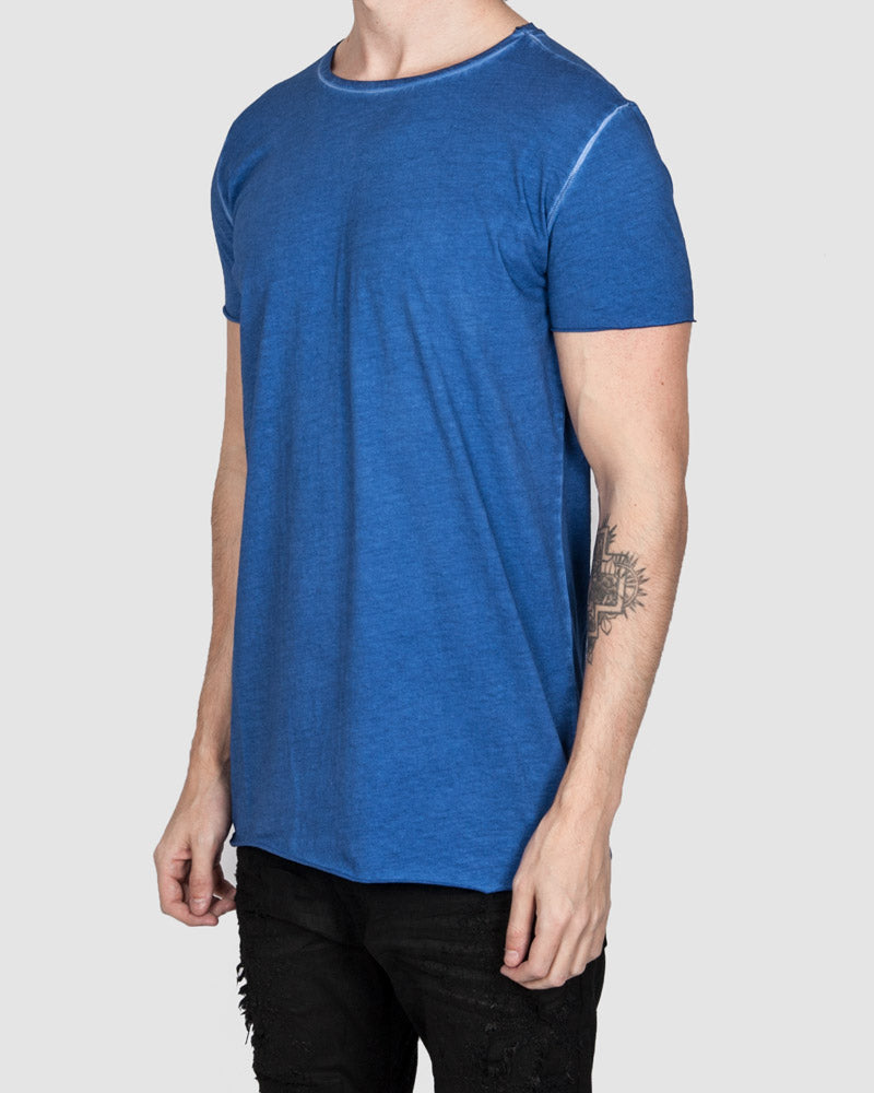 Army of me - Scar stitched cotton tshirt royal blue - Stilett.com