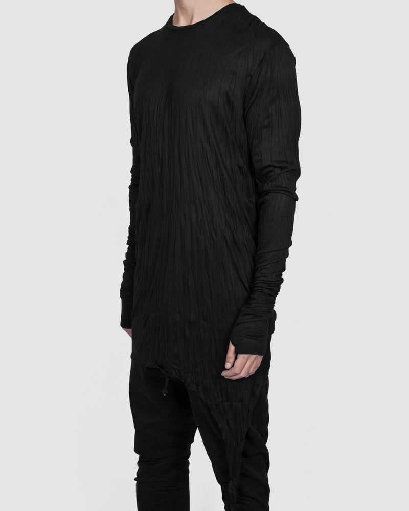Army of me - Serac longsleeve modal jersey crinkled black - Stilett