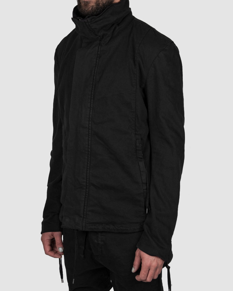 Short cotton jacket black