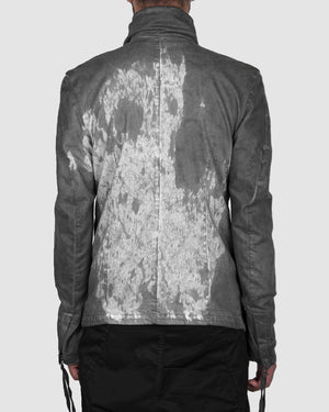 Army of me - Short cotton jacket stained - https://stilett.com/