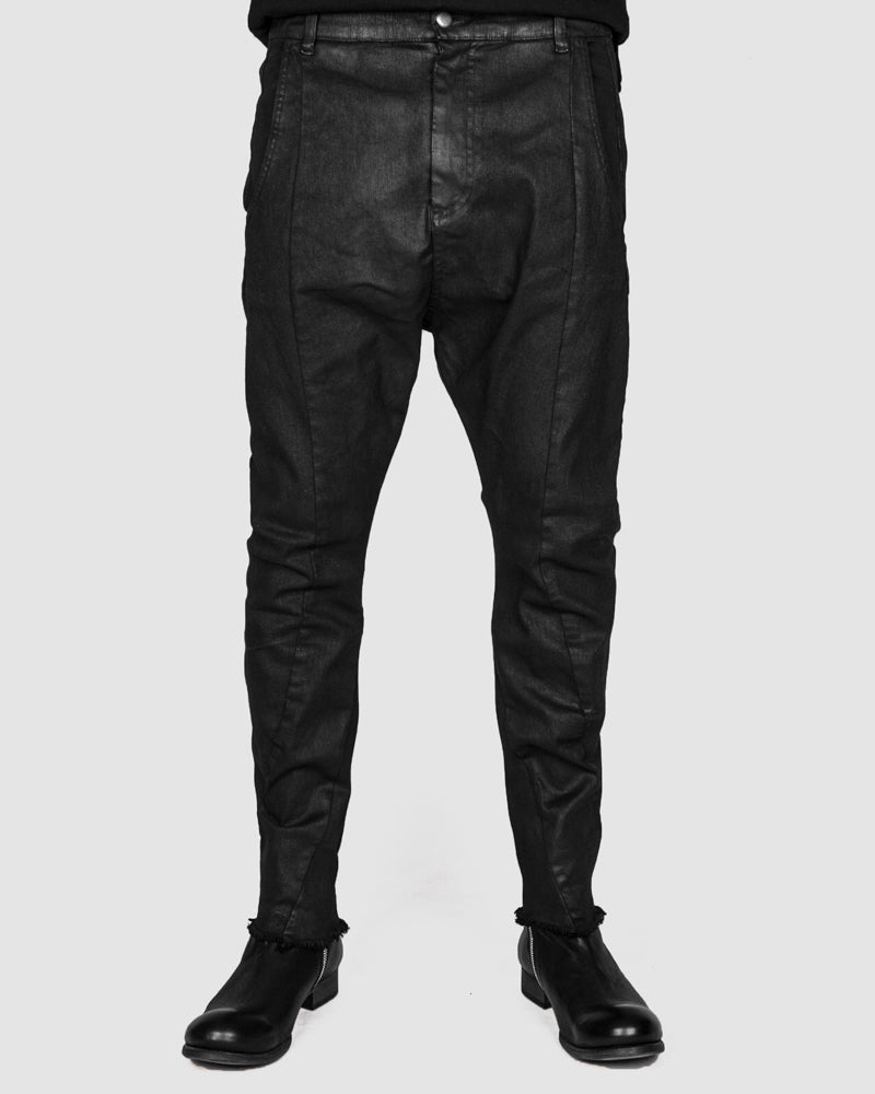 Army of me - Slim fit cotton trousers black spray - Stilett.com