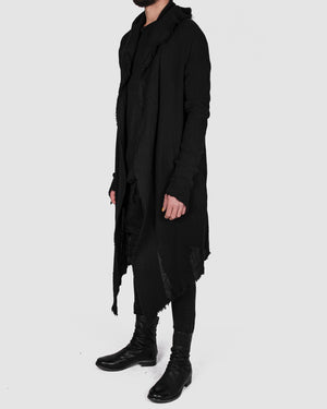 Army of me - Structured cotton cardigan black - https://stilett.com/