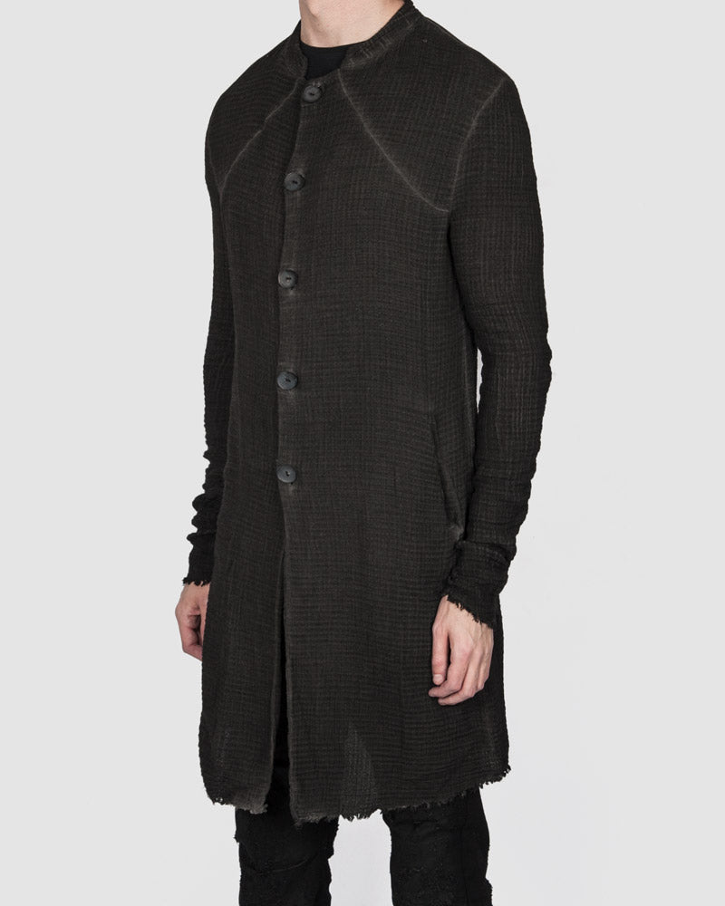 Army of me - Structured cotton coat anthracite - Stilett.com