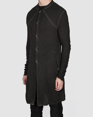 Army of me - Structured cotton coat anthracite - https://stilett.com/