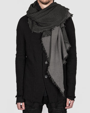Army of me - Structured cotton scarf anthracite - https://stilett.com/