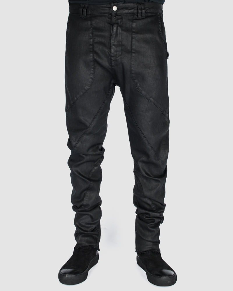 Army of me - Waxed curve trouser - Stilett.com