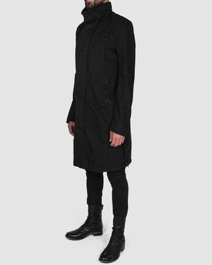 Army of me - Zip up cotton coat black - https://stilett.com/