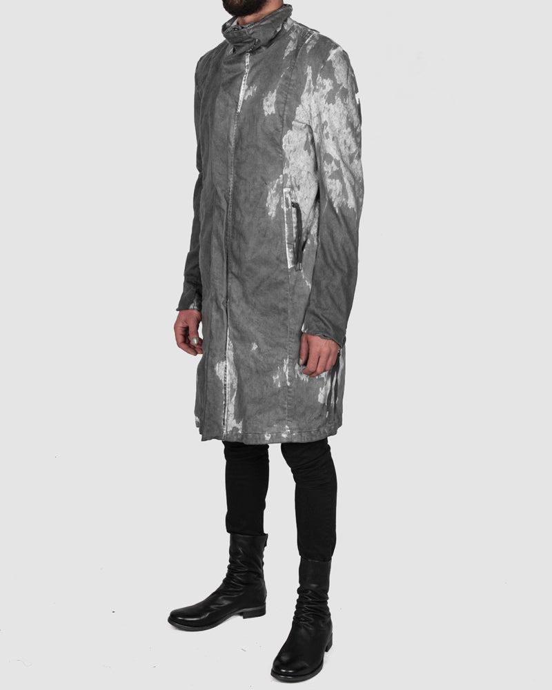 Army of me - Zip up cotton coat stained - Stilett.com