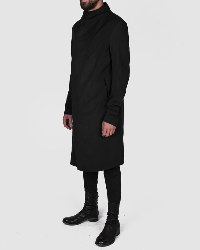 army of me - Zip up fitted wool coat - Stilett.com
