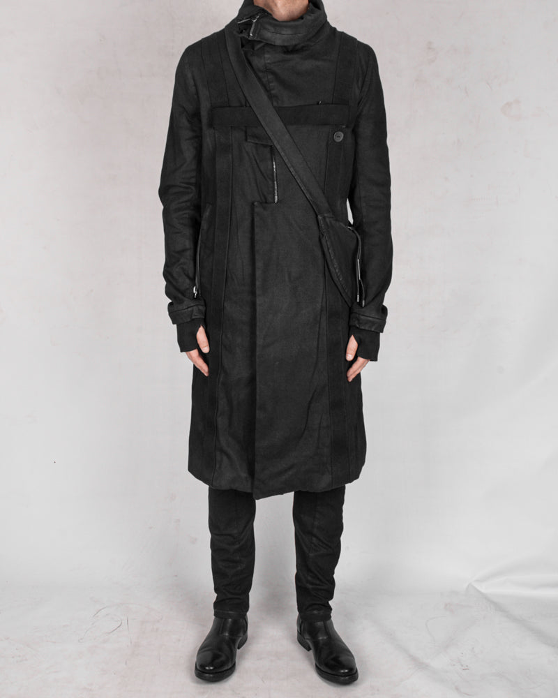 Army of me - Harnessed zip up cotton coat - Stilett.com