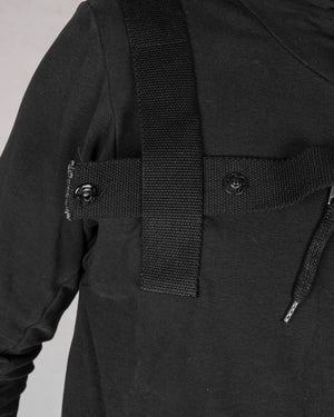 Army of me - Harnessed zip up hoodie sweatshirt black - https://stilett.com/