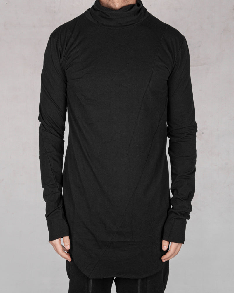 Army of me - Mittened turtle neck jersey black - Stilett.com