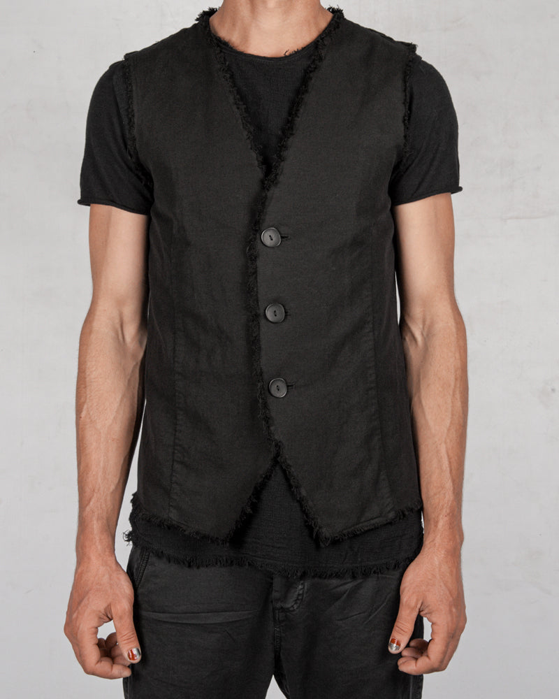 Army of me - Raw linen blend vest - Stilett.com