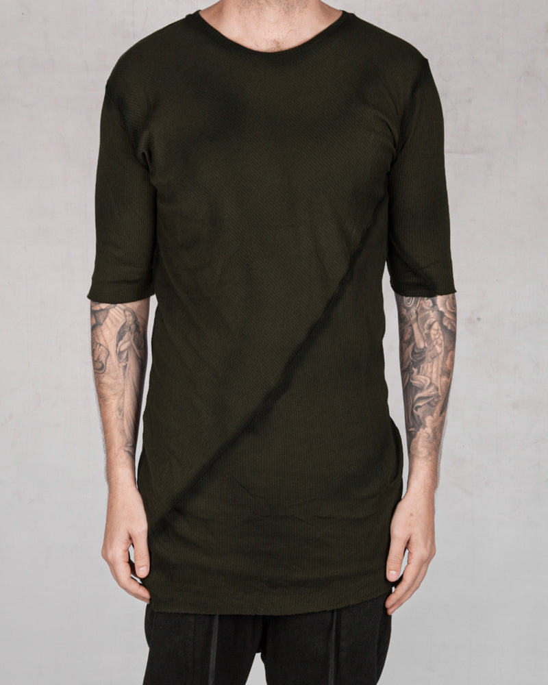 Army of me - Ribbed tshirt moss - Stilett.com
