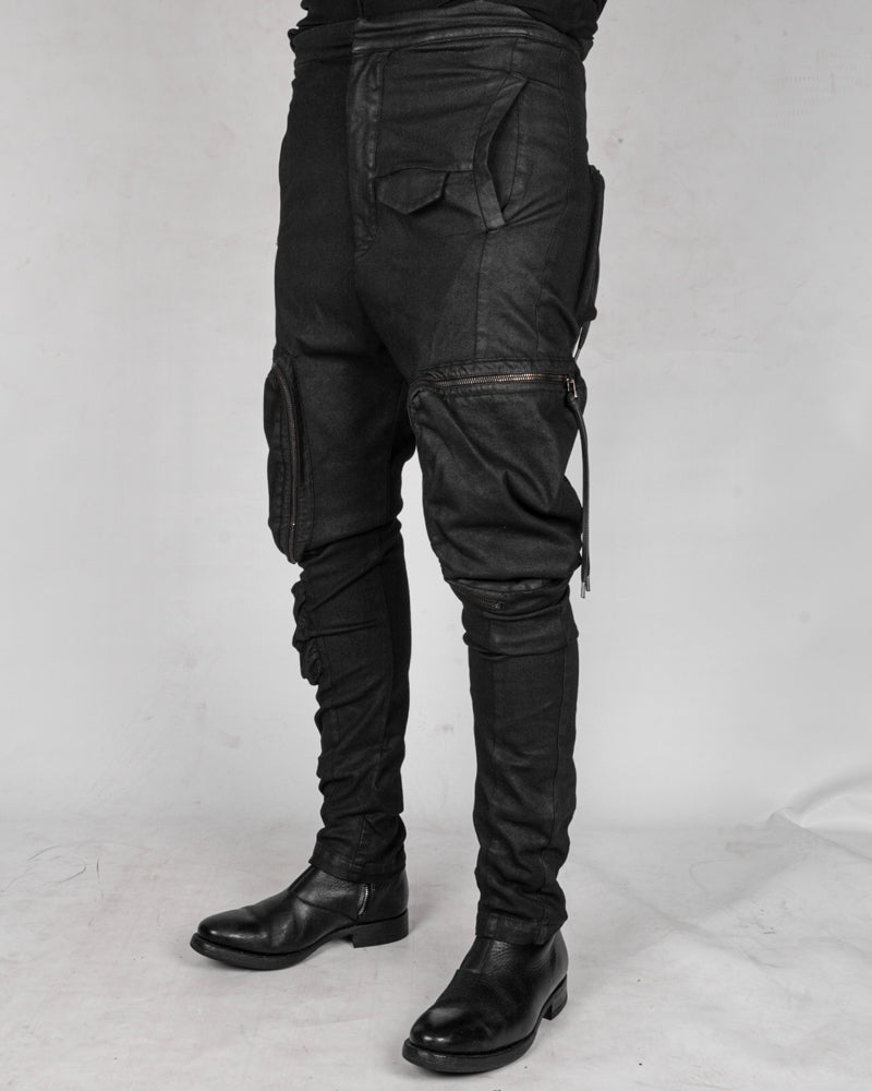 Zip pocket cargo trousers
