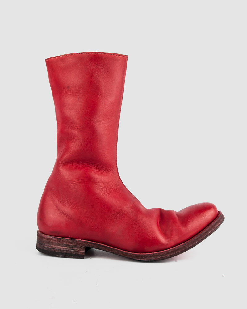 Atelier Aura - AAEB03 side zip tall boots - Chili Red - Stilett.com