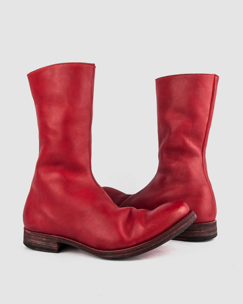 Atelier Aura - AAEB03 side zip tall boot - Chili Red - Stilett.com