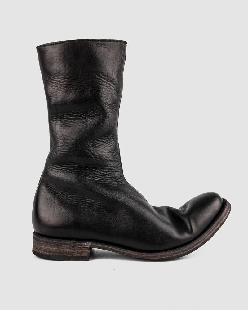 Atelier Aura - AAEB03 side zip tall boots - Jet Black - Stilett.com