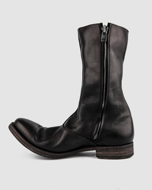 Atelier Aura - AAEB03 side zip tall boots - Jet Black - https://stilett.com/
