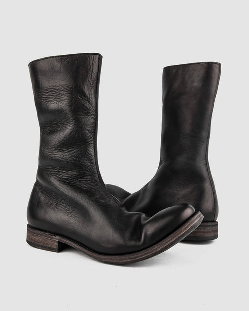 Atelier Aura - AAEB03 side zip tall boot - Jet Black - Stilett.com