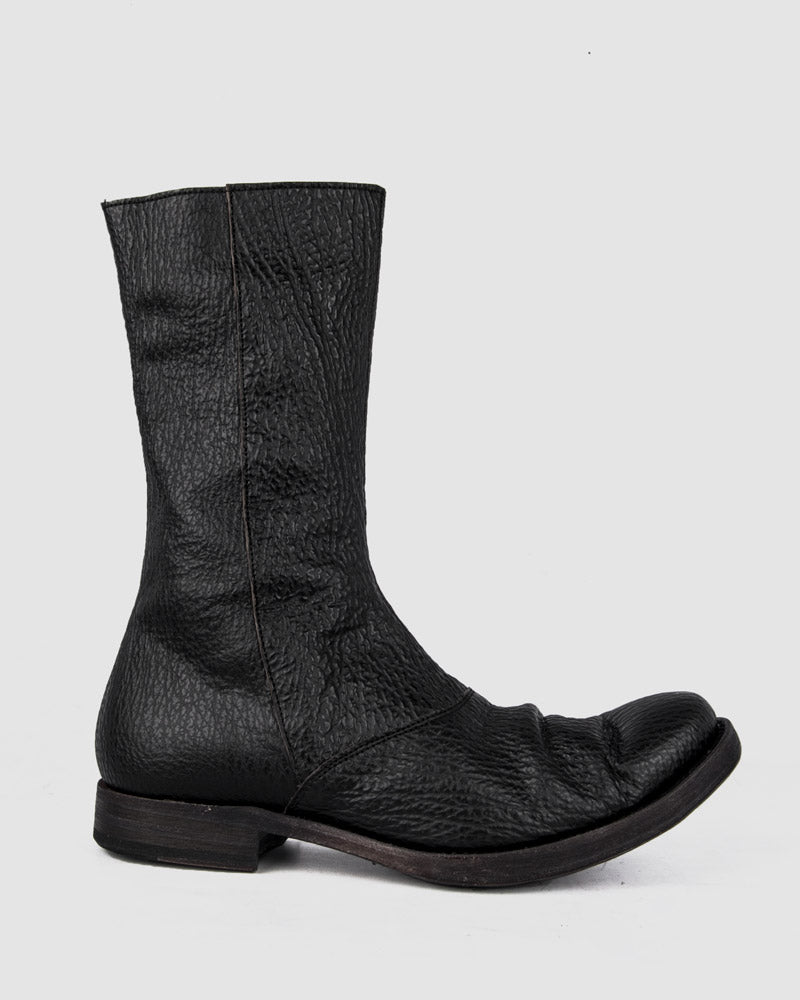 Atelier Aura - AAEB05 Shark leather side zip tall boots - Stilett.com