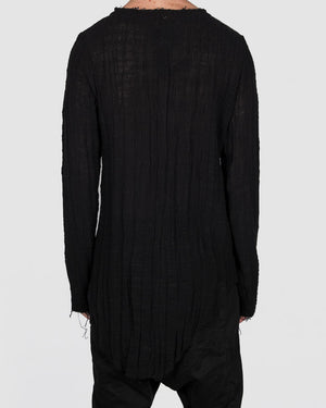 Atelier Aura - Ingi gauze long sleeve tee - black - https://stilett.com/