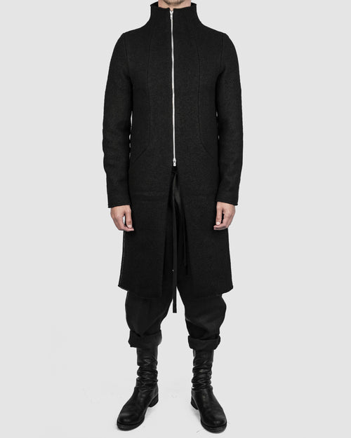 Atelier Aura - Isak zipped wool coat - Stilett.com