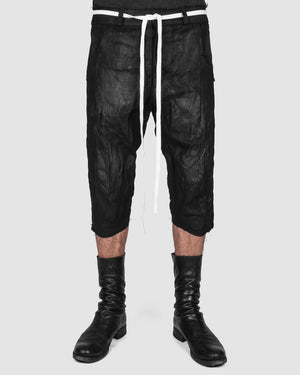 Atelier Aura - Jon hand painted long shorts - https://stilett.com/
