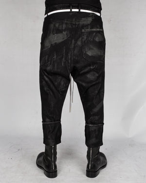 Atelier Aura - Ari denim dropcrotch trouser hand painted - https://stilett.com/