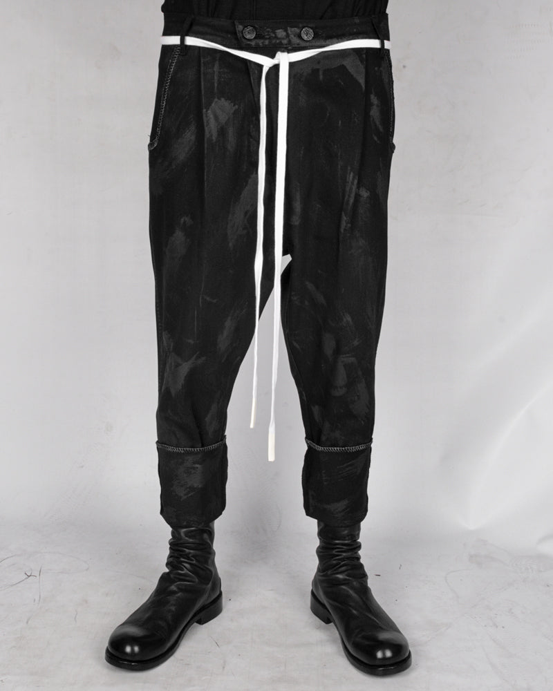 Atelier Aura - Ari denim dropcrotch trouser hand painted - Stilett.com