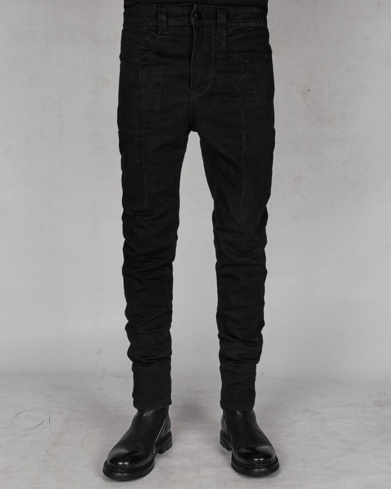 10R:son - B1001S - Stitched denim trousers - Stilett.com