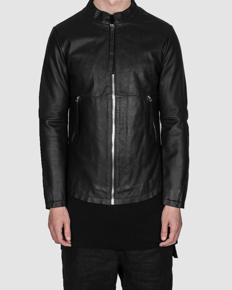 Barbara i gongini - Ladder stitch leather jacket - Stilett.com
