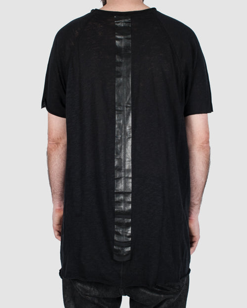 Taped back short sleeve tee