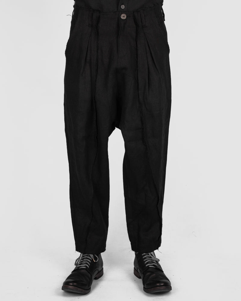 Atelier Aura - Jóhann deepcrotch lined trousers black - Stilett.com