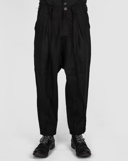 Jóhann deepcrotch lined trousers black