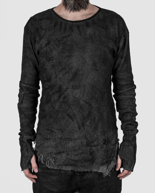 Zam Barrett - Long sleeved faulted shoulder top - Stilett.com